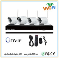 Wholesale Gentlen Onvif H ch NVR kits with Outdoor Wireless IP Camera for security system