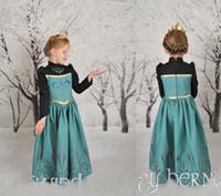 Cheap TuTu girl Princess dress Best Spring / Autumn A-Line long sleeve full dress