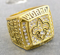 Wholesale rhodium or gold plated New Orleans Super Bowl Championship ring