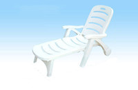 Wholesale Beach chairs Beach lounge chair Beach leisure chair Sun Lounger Beach folding chair PP plastic chair With wheels Best price