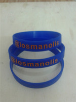Wholesale custom print texts amp logo rubber wristbands P1110228 silicone bracelet for events amp promotion gift