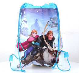 Wholesale Hot sale Frozen bags Anna Elsa Children s Cartoon backpack drawstring bags kid s shopping bag toy present bag