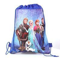 Backpacks Unisex 3-6T Fedex DHL EMS 2014 New Baby Frozen Bags Anna Elsa peppa pig sofia Drawstring Backpack School Bags kids frozen shopping bags 120Pc lot