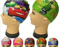 Wholesale 2014 children new digital printing caps cartoon caps for swimming leave mesasge to choose cartoon
