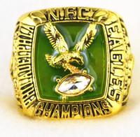Cheap Men preferred retro classic commemorative collection 1980 Philadelphia Eagles Super Bowl championship rings