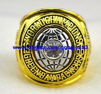 Three Stone Rings Celtic Men's Classic best-selling 1966 Green and Bay Packers Super Bowl championship rings world