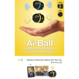 Wholesale-New Hot Sale Smallest AI Ball Mini Wifi Cam Wireless Surveillance IP Camera 10pcs lot DHL Free Shipping