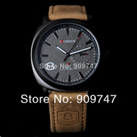 Men's Round 10 Fashion 8139 CURREN Brand Men Wristwatches Leather Strap Clocks Japan Movement Quartz Watches Men Dress Relogio Hours