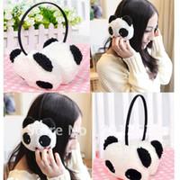 Wholesale Unbeatable At X Fashion Animal U Style Cute Plush Panda Earmuff Earflap for Girls Ladies