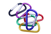 Cheap Colorful Carabiner Durable Climbing Hook Aluminum Camping Accessory Fit Outdoor Sport Top Quality mixed color order 1000pcs
