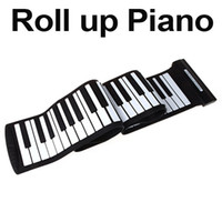 Wholesale USB Keys MIDI Roll up Electronic Piano Keyboard Silicone Flexible Professional Musical Instruments