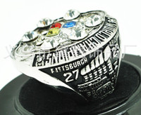 Wholesale 2008 Pittsburgh and Steelers Super Bowl championship rings alloy inlaid rhinestones Men s Rings