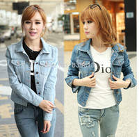 Jackets bast prints - women denim jackets for women autumn winter denim jeans outwear bast cost fashion girl denim clothes