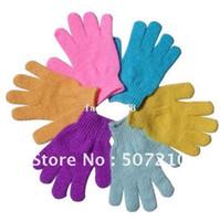 Wholesale Cloth Bath Mitt Exfoliating Gloves Cloth Scrubber Face Body Moisturizing Spa Skin Care HB926