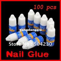Nail Art 3D Decoration Nail Art Rhinestones Nail Gel Wholesale-100 x 3g PRO Acrylic Nail Glue Gel For French Art False Tips nail art decoration Glue Adhesive Wholesale