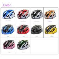 Wholesale 10 Colors NEW Vents Ultralight Integrally molded Sports Cycling Helmet with Visor Mountain Road Bike Bicycle Helmets Adult H11138