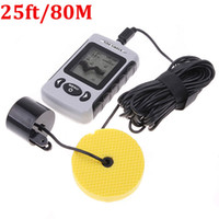 Wholesale NEW Fishing Bait Boat Portable Dot Matrix Lake Sea Fish Finder Sonar Sensor ft M Depth Fishfinder H4684
