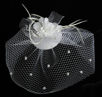 Hot Elegant Birdcage Face Veil Flower Bridal Hats Headwear w...