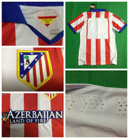 Wholesale 2014 Atletico Madrid Soccer Jerseys Football Jersey Uniforms Kits Season Clothing Discount T Shirts Cheap Thailand Custom Tops Player