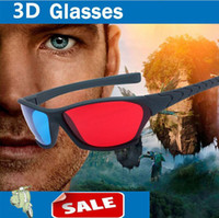 Wholesale 2015 New Anaglyph D GLASSES Red Blue plastic frame stereo glasses for r b movie game gifts