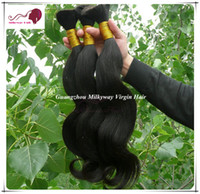 Wholesale Virgin Malaysian Body Wave Hair Bulk Hair Mix Size inch to inch Braids Human Hair Extensions Bulk Price FREE DHL
