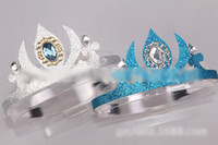 Wholesale Pre order Frozen Children s Day Gifl Diamond Crown Snow Princess Elsa Anna Party Pageant Decorate Childs Girl Hair Band Tiara Headband H1005