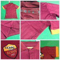 Wholesale 2014 AS Roma Soccer Jerseys Football Jersey Uniforms Kits Season Clothing Discount T Shirts Cheap Thailand Custom Tops Player Home Wear