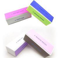 Nail Buffer EVA  Economic 5Pcs 4 Way Nail File Buffer Polishing Block Nail Manicure Pedicure Nail Art Tool