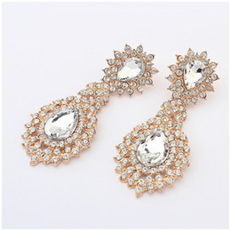 New Fashion Boutique Dangle Chandelier earrings Stud Crystal Rhinestone 2014 Fashion Wedding Jewelry For Women cxt99849
