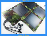 Wholesale 2014 Hot Outdoor Portable Multifunctional Foldable Solar Charger W Solar Energy Panel For Mobiles MP3 MP4 Digi Camera Ipad PSP Bluetooth