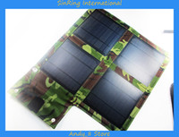 Wholesale 2014 Hot Outdoor Portable Multifunctional Solar Charger W Foldable Solar Energy Panel Available For Mobiles MP3 MP4 Digi Camera Ipad