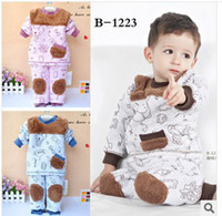 Briefs Unisex Briefs Baby Preschool Natural Colored Set Children Underwear Cosmic Xiong Caihong shoulder button Suit Warm Chest And Knee Thick Cold