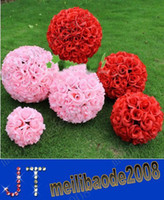 Wedding pomander - cm cm Wedding Decorations Silk Kissing Pomander rose Flowers Balls Wedding bouquet MYY9335