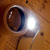 40X 25mm POTENCIA joyero de la lupa LED de LOOP LUPA magnifing cristal iluminado