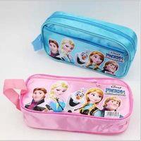 Nylon   Hot Frozen Pencil Case Elsa Anna princess Pencil Bags Children Girl's Cartoon Fashion Pencil Bag Kids Holiday Gift FS-DG11