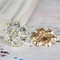 Quilt Accessories Buttons Yes 100PCS LOTS,20MM,Sparckel Crystal Rhinestone Embellishment Metal Buttons Flatback IN STOCK For Hair Bow Center, BLB01