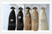 Peruvian Hair #1b/2/4//6/8/16/18/60/613 Straight 6A Grade 100% Brazilian Human Virgin Hair Remy Keratin Hair Flat-Tip Hair Extension No Shedding #1B 4 8 27 60 1g strand 200g lot Queen Hair