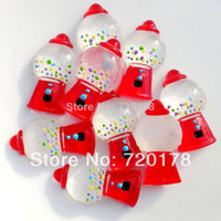 Resin Yes JOY 600pcs lot,0.6x1.2'' Red Bubble GUM Gumball Machine Cabochons Resin Flatbacks Scrapbooking Crafts Making DIY,REY158-2