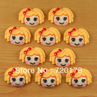Resin Yes JOY Free shipping,Orange Hair Lalaloopsy Girl Resin Cabochon Flatbacks Scrapbooking Hair Bow Center Crafts Embellishment DIY,REY139