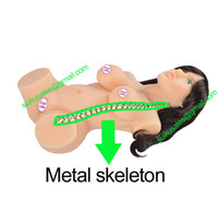 Man Solid Silicone Male Sex Doll 2014 new metal skeleton real silicone sex doll,Adult sex product sex toy vagina anal & breast love doll for men