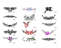Wholesale 2014 New Self Adhesive Temporary Airbrush Tattoo Stencil Template Booklet with designs for glitter stencil kit supply SB005