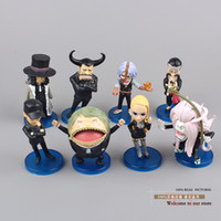 Wholesale Anime One Piece CP9 Spandam Lucci Kaku Jyabura Blueno Kumadori Fukurou Kalifa PVC Action Figure Toys Dolls set OPFG135