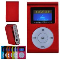 Wholesale Alumium Small Cute MP3 With Display Screen Mini USB and TF Card Slot mp3 music player Multi Colors With Earphone DA1038