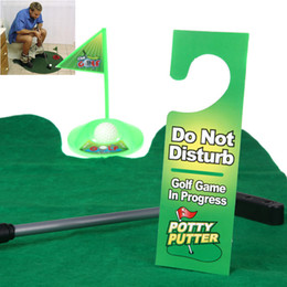 Funny Toilet Bathroom Mini Golf Mat balls Set Potty Putter Putting Game Novelty H10294