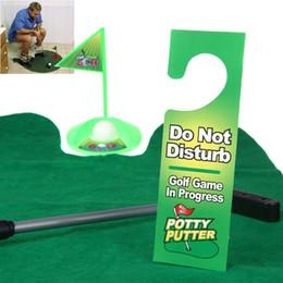 Funny Toilet Bathroom Mini Golf Tapis de balle Set Potty Putter Putting Game nouveauté H10294