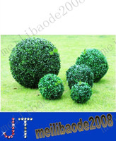 Wholesale Dia cm cm Artificial Plastic GREEN GRASS BALL Boxwood Ball Outdoor Indoor Decoration Plant MYY9337