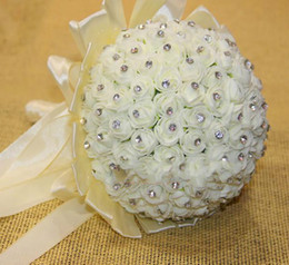 Wholesale Style Newest Wedding Bouquet Bride Holding Flowers with Pearl White Pink Purple Stylish Bride Bridal Bouquets