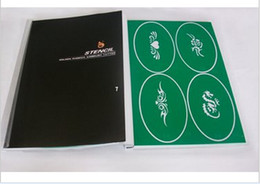Wholesale 2014 Temporary Airbrush Tattoo Stencil Template Booklet PH SB007 for glitter stencil kit supplies
