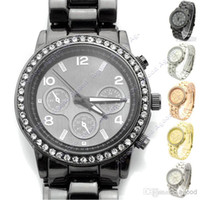 Wholesale new fashion Metal Boyfriend Designer Crystals Watches men Wristwatch Colors