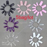 Full Natural Tips Square  Nail Tips Wholesale - 5bag lot New 100 pcs Professional Artificial Acrylic False Nails Art Tips 10041
